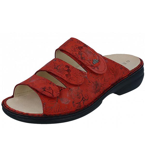 Finn Comfort Pantolette red