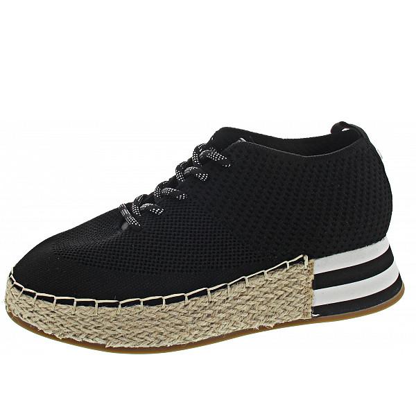 La Strada Halbschuh knitted black