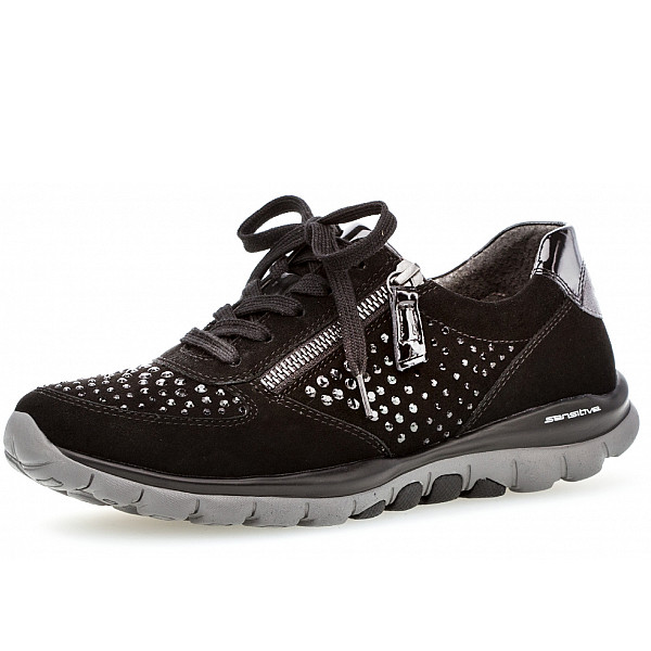 Gabor Comfort Roling Soft Sneaker schwarz strass