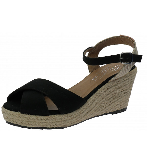 Tom Tailor Keilsandalette black