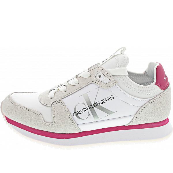 Calvin Klein Runner Sock Sneaker bright white