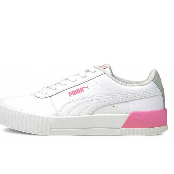 Puma Carina L Jr Sneaker white/ pink