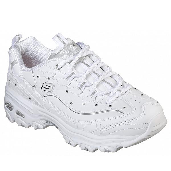 Skechers Dee Light's Sneaker wht/ silver