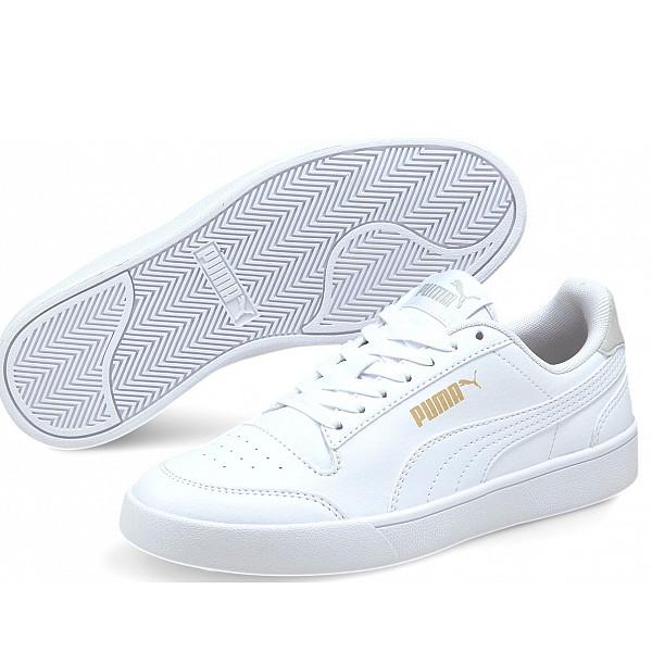 Puma Shuffle Jr Sneaker white-grey-gold