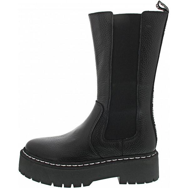 Steve Madden Vivianne Chelsea Black Leather