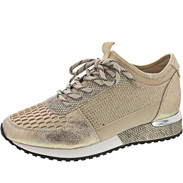 La Strada Sneaker cracked gold