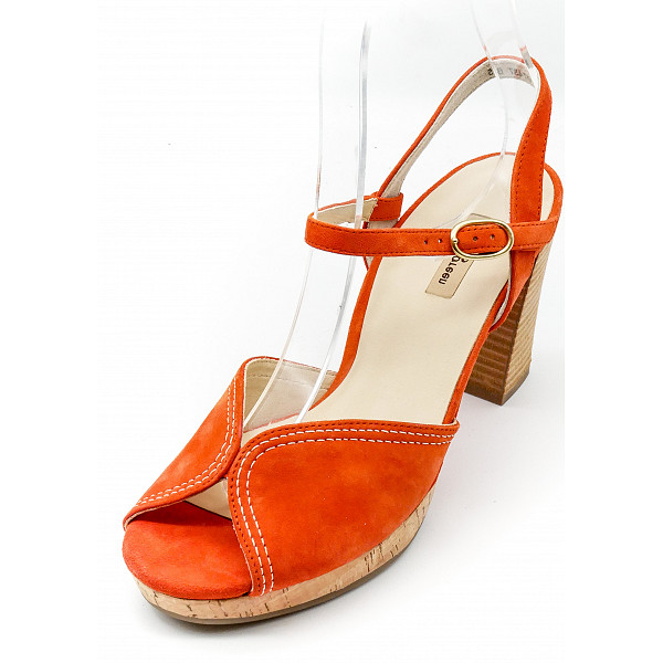 Paul Green Plateaupumps orange