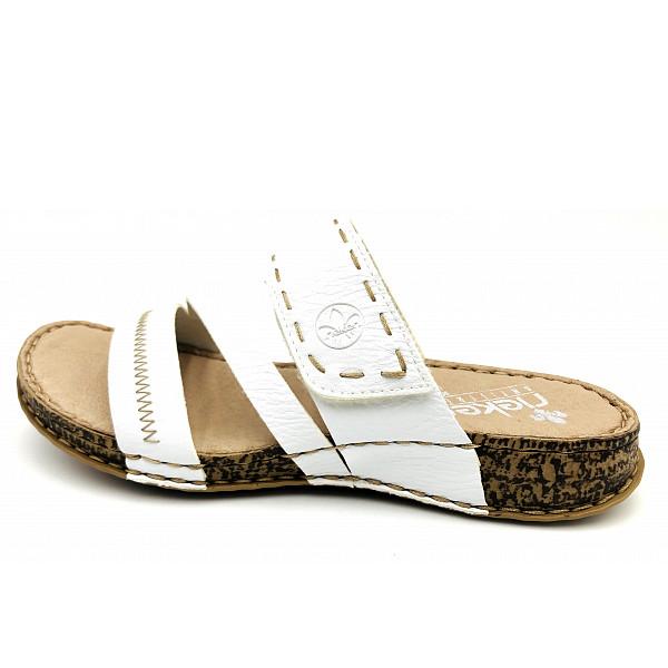 Rieker FSK Damen Sandalen Pantolette weiß