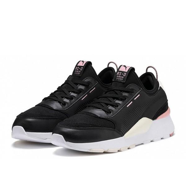 Puma Sneakers P Black-W White-Bridal Rose
