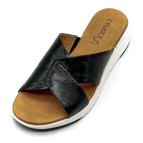 Caprice Woms Slides Sandale 0 BLACK NAPLAK
