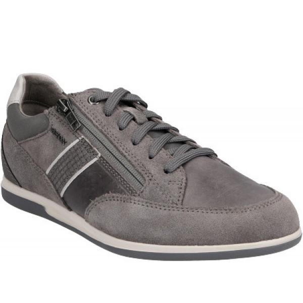 Geox U RENAN D - SUEDE WAXED L Sneaker GREY