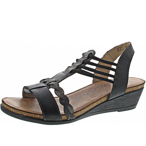 Remonte Sandalette schwarz/schwarz-meta