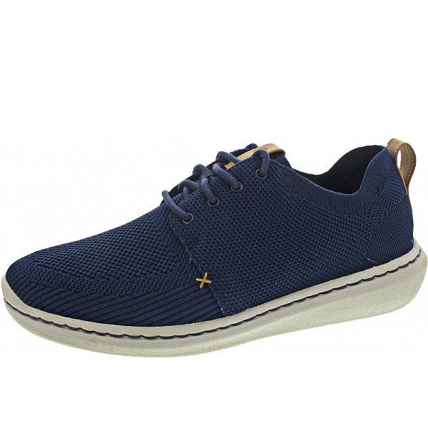 Clarks Step Urban Mix Sneaker Navy Textile Knit