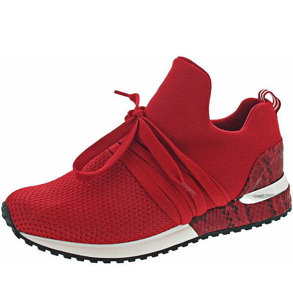 La Strada Slipper red knitted