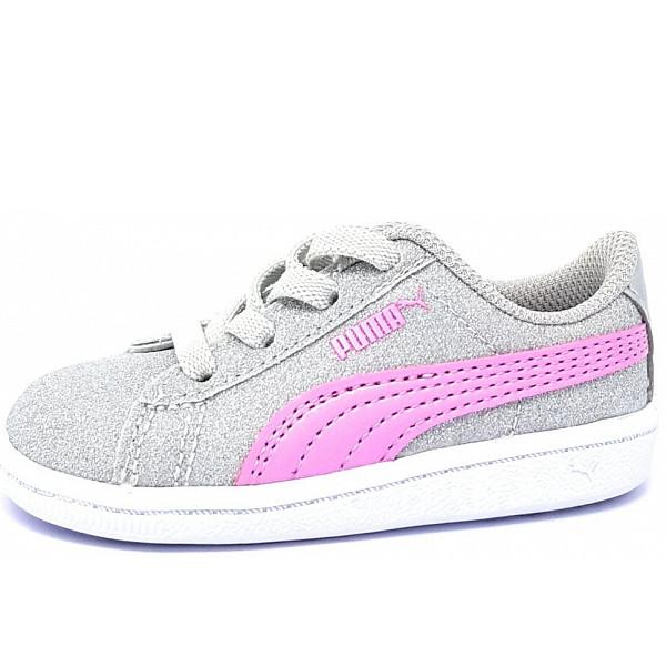 Puma Vikky Glitz Sneaker silber rosa