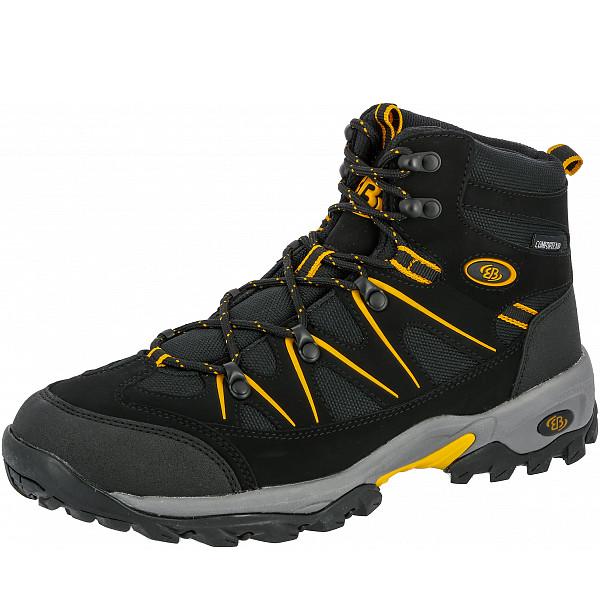Brütting Mr. Hunter High Trekkingschuh schwarz gelb
