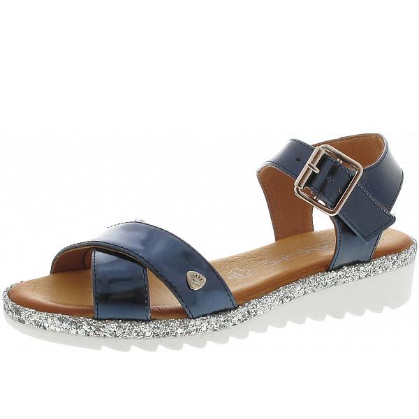 Black Sandale blau