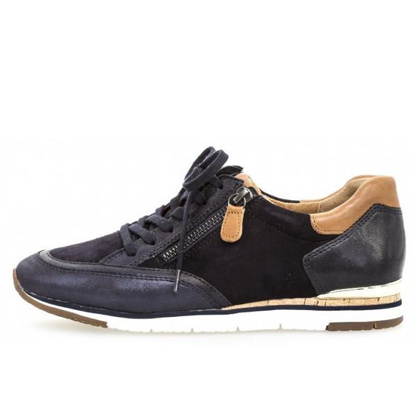 Gabor Sneaker blau-kombi/cognac