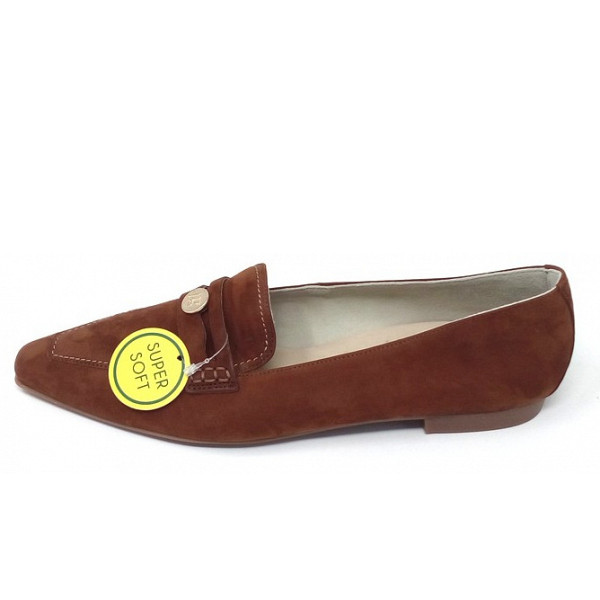 Paul Green Royal Nubuk Slipper Cognac