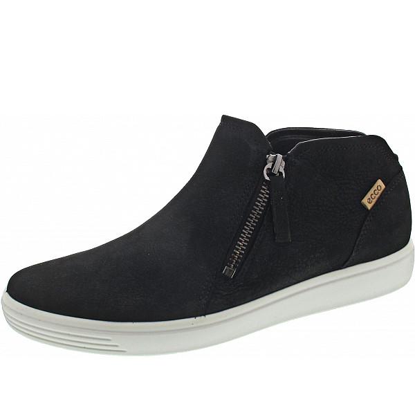 Ecco Soft 7 Sneaker BLACK/POWDER