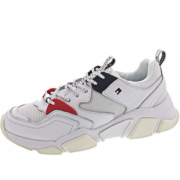 Tommy Hilfiger Mixed Textile Trainer Sneaker white