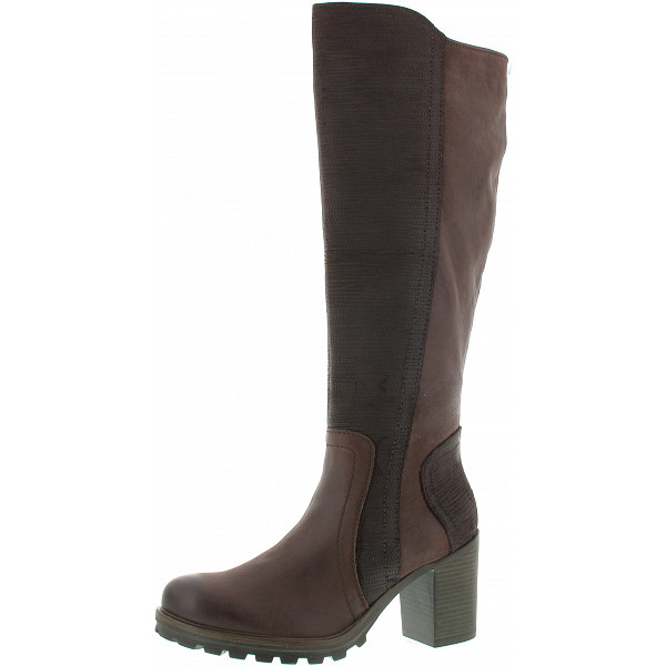 Marco Tozzi Langschaftstiefel mocca ant comb