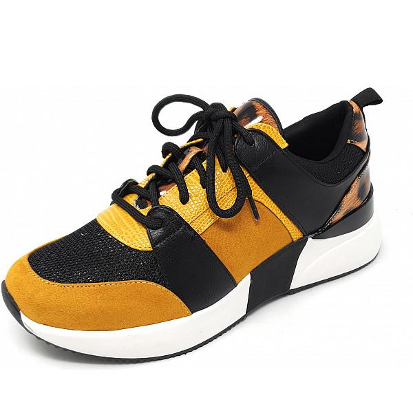 La Strada Sneaker 6080 ocker black