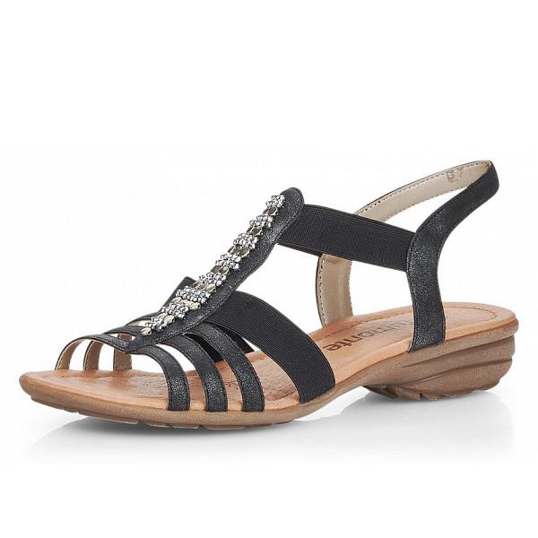 Remonte Sandalette grey schwarz