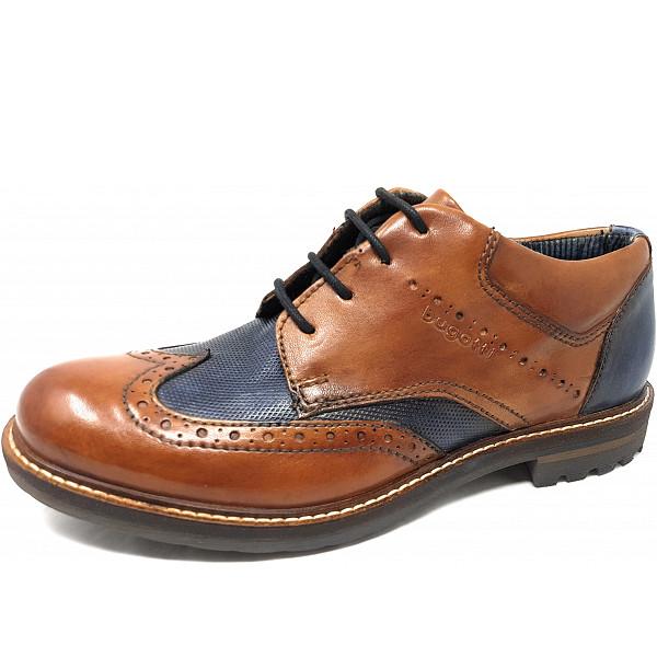 Bugatti City-Silvestro Businessschuh 2341 brown blue