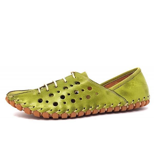 Gemini Da.-Schuh Schnürhalbschuh grün