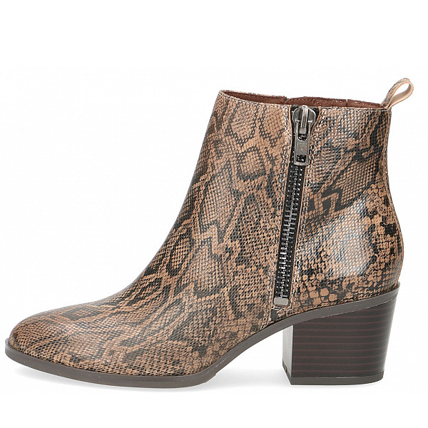 Caprice Stiefeletten TAUPE SNAKE
