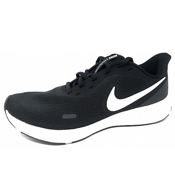 Nike Revolution 5 sportlicher Schnürer black/white/anthra.