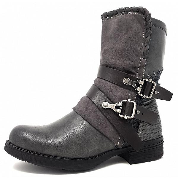 NEU CM LAUFSTEG MÜNCHEN Schuhe Stiefelette HW190219 DK GREY grau