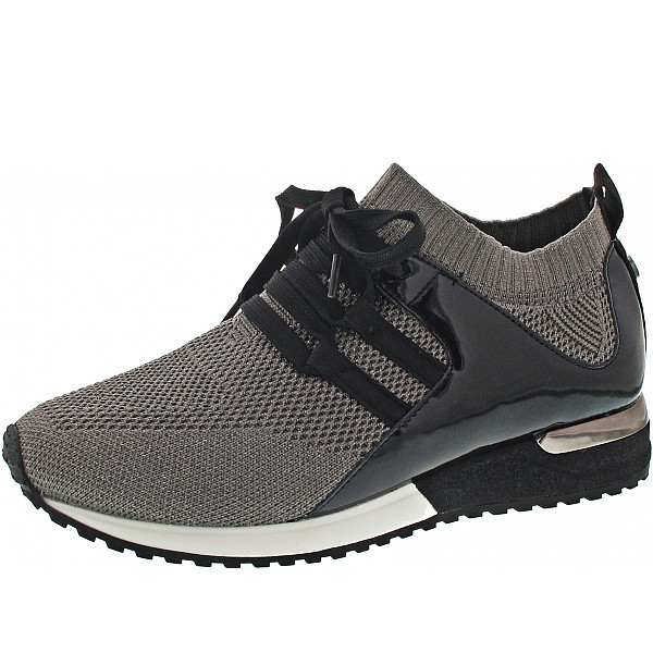 La Strada Sneaker knitted taupe
