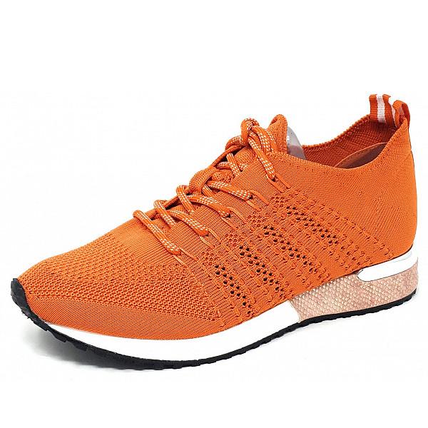 La Strada la Strada Laced Up Sneaker 4534 - knitted orange